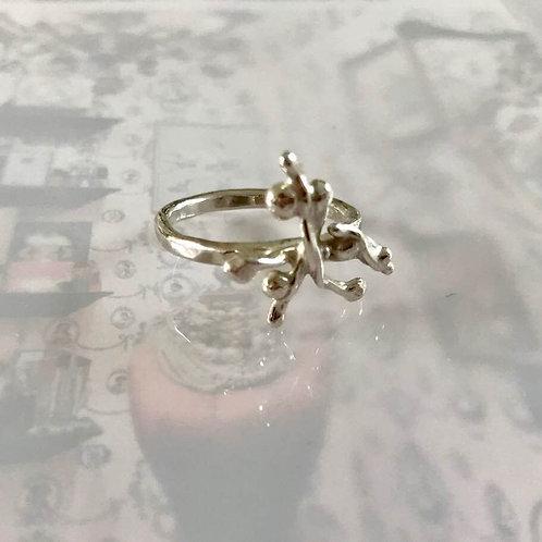 Argentium Silver Organic Twig Ring