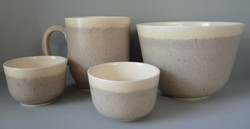 Image 11 Selection of Pots in Ochre