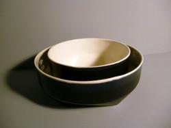 Geo-Bowl-14cm-and-18cm-Diametre-Graphite--Black