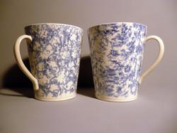 Large-Mugs-in-Pale Blue Slip Sponged