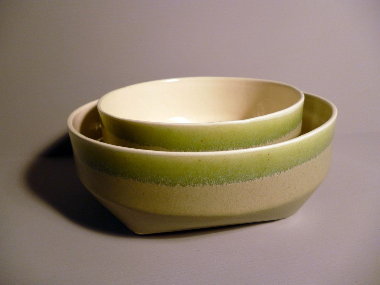 Geo-Bowl-14cm-and-18cm-Diametre Sage Green