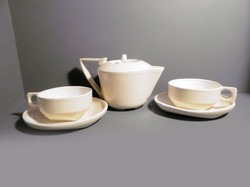 Teapot-and-2-cups-and-saucers-in-Retro-Yellow-a