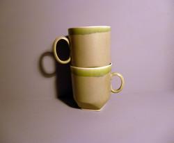2 x 350ml Geo-Mug-in-Sage-Green