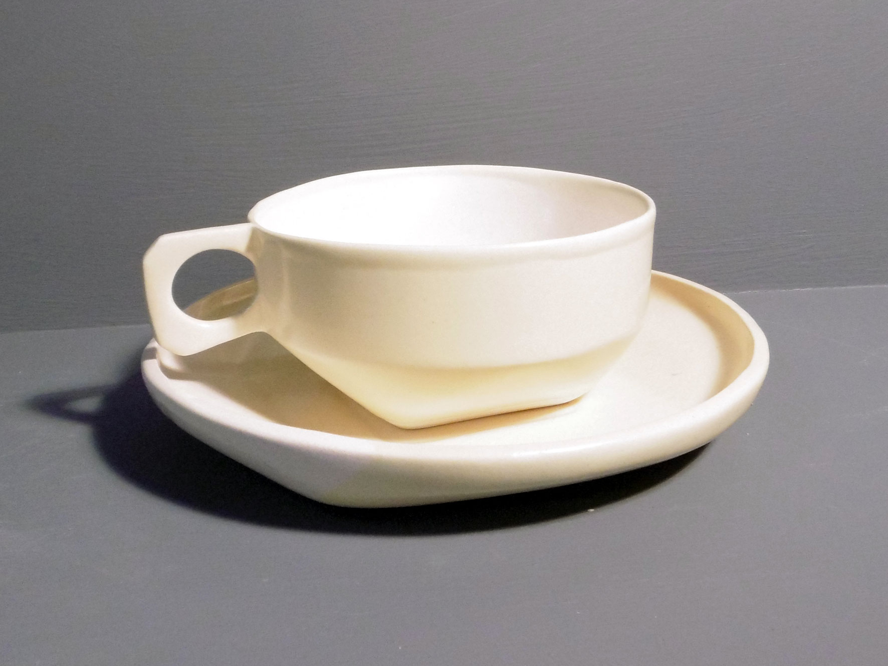 Cup-and-Saucer-in-Retro-Yellow