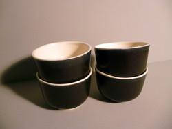 4 x Small Bell Bowls 7.5cm Dia x 5cm Graphite-Black