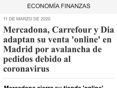 Tiendas online en España temporalmente cierran