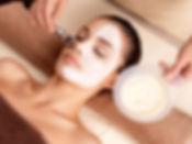 Women getting a chemical peel
