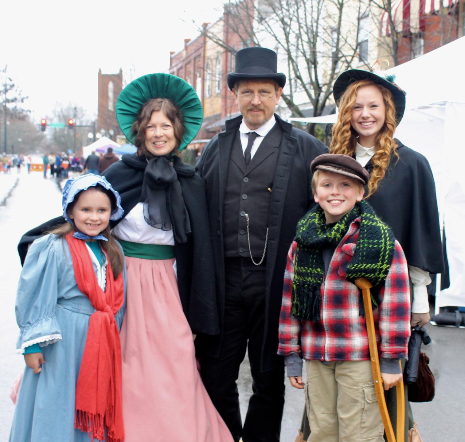 Costumed attendees spread joy