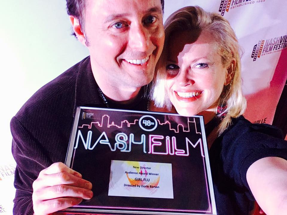 Producer, David Wilson and Director, Dorie Barton celebrate at the Nashville Film Festival.