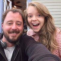 Producer David K. Wilson and Jade Pettyjohn on the set of Girl Flu.
