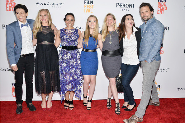The cast of Girl Flu with director Dorie Barton.