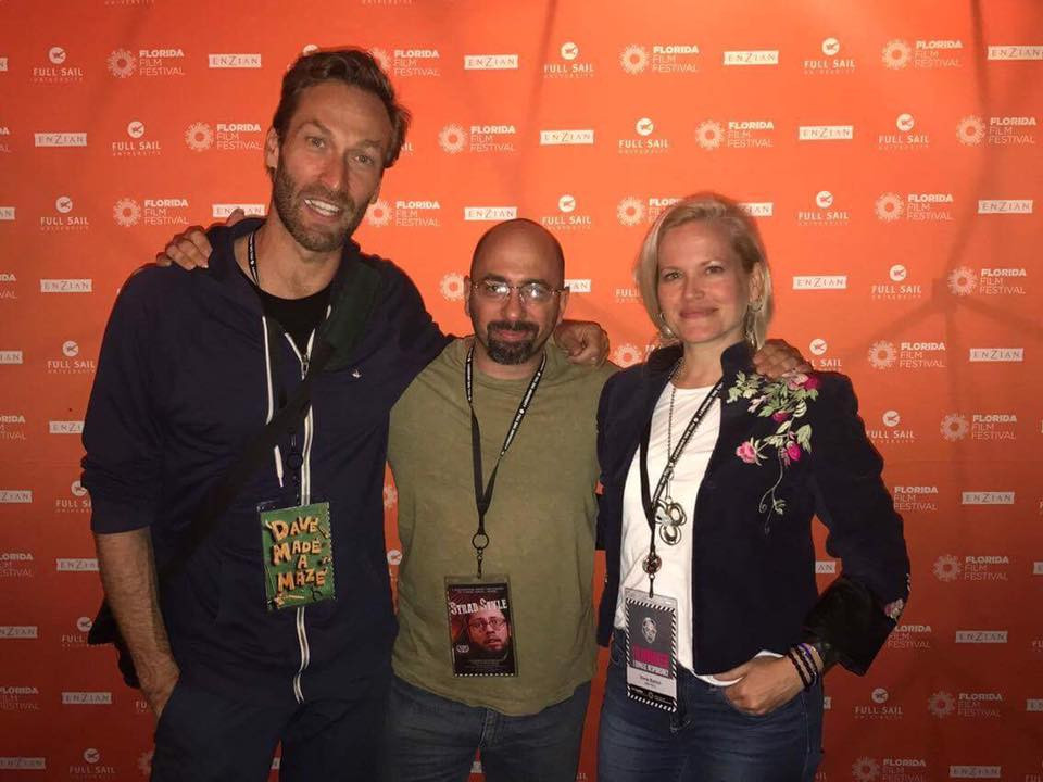 Director Dorie Barton and fellow award winners of the Florida Film Festival, Bill Waterson and Stefan Avalos.