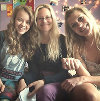 Katee Sackhoff, Dorie Barton and Jade Pettyjohn on the set of Girl Flu.