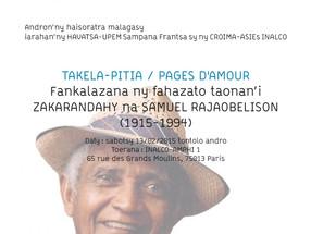 TAKELA-PITIA / PAGES D'AMOUR - FAHAZATO TAONAN'I ZAKARANDAHY (1915-1994)