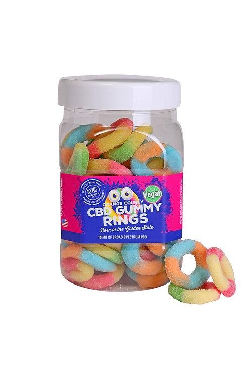 Large CBD Gummy Rings 50mg