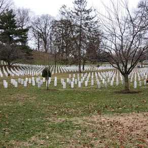Wreath clean-up at Arlington National Cemetery