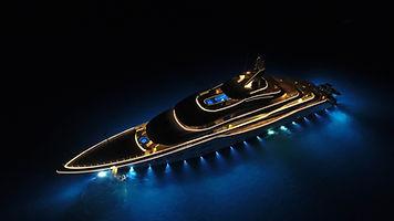 Super yacht Anchored in The Bahamian Sha