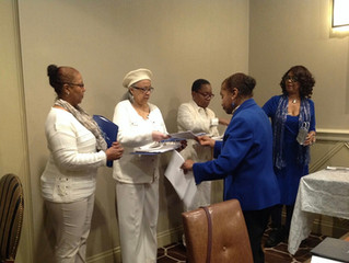 Installation of New Members Detroit Chapter of Charms Inc