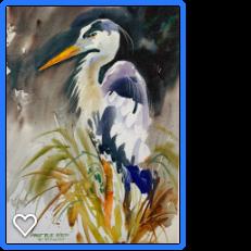 Blue Heron by Robert A.Fleming