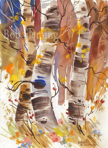 Birches Vertical