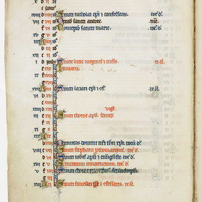 Publication: Medieval calendar produced in England ca. 1300.
