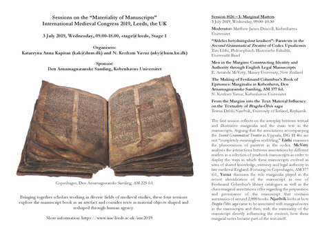 Conference: Sessions on Materiality of Manuscripts at IMC 2019