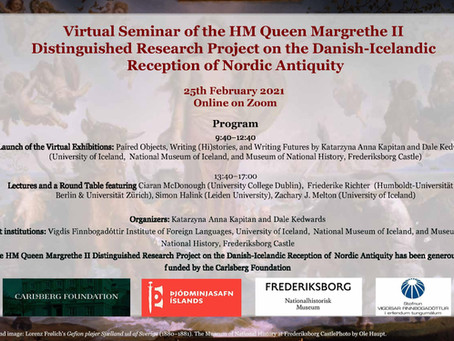 Virtual Seminar of the HM Queen Margrethe II Distinguished Research Project on the Danish-Icelandic