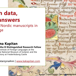 Seminar: West Norse and East Norse Manuscripts in the Digital Age