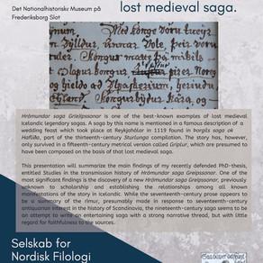 Public lecture: Selskab for Nordisk Filologi