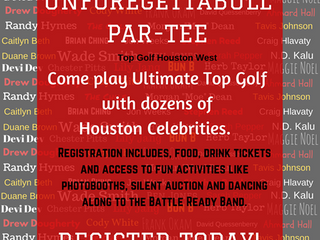 UnFOREgettaBULL PAR-TEE AT TOP GOLF WITH HOUSTON TEXANS AND HOUSTON CELEBRITIES