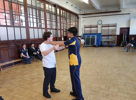 Year 11 pupils -Kings Monkton School, Cardiff (BTEC level 2 qualification in self-defence)