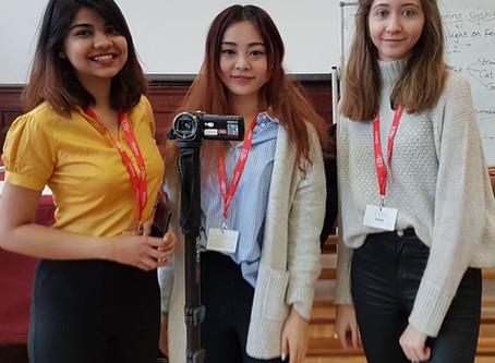 Cardiff University students filming at Kings Monkton School