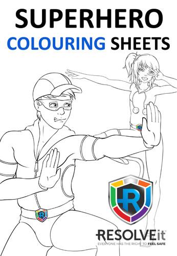 Superhero Colouring Sheets
