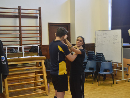 Kings Monkton School, BTEC level 2 qualification in self-defence and breakaway techniques.