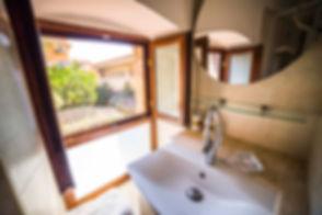 Il bagno dell'appartamento di Villa al Duomo
