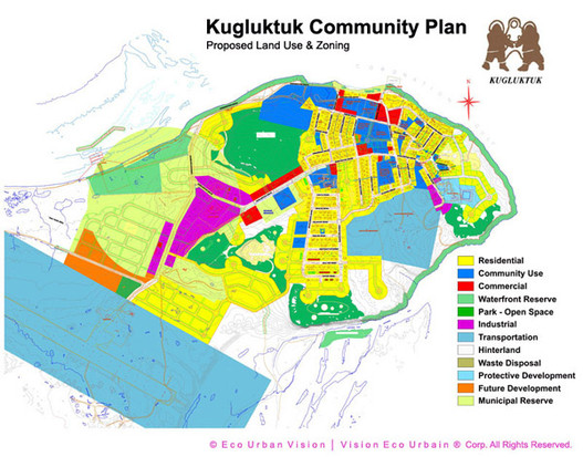 """KUGLUKTUK  COMMUNITY  PLAN - Within the Government of Nunavut Olimpia worked in partnership with administrators and assisted them in building capacity to meet the needs of their residents. Representing the Head Office as Coordinator Planning & Lands, she facilitated the incorporation of """"Inuit Qaujimajatuqangit"""" (Inuit culture and traditional knowledge) into the territory's political and governmental decisions."""