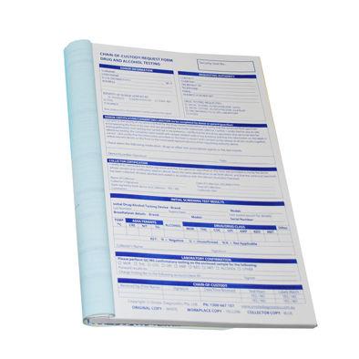Chain of Custody Triplicate Booklet (50 tests)