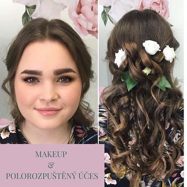 Glam Makeup & Romantický polorozpuštěný