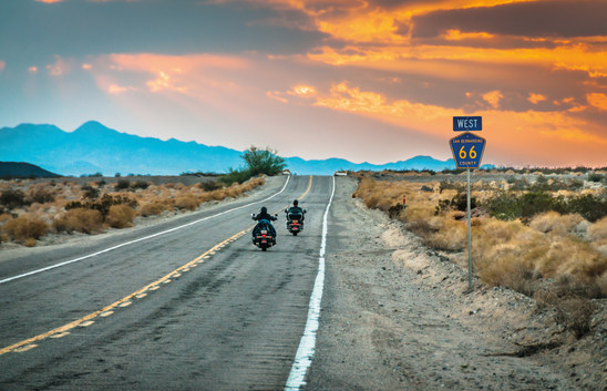 Route 66 Motorcycle on the road