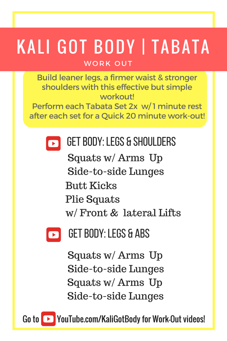 [VIDEO] GET BODY| Legs, Abs & Shoulders Tabata Workout