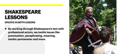 Lessons in Shakespeare