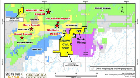 Snowy Owl Gold Provides Exploration Update on Golden Eagle Property