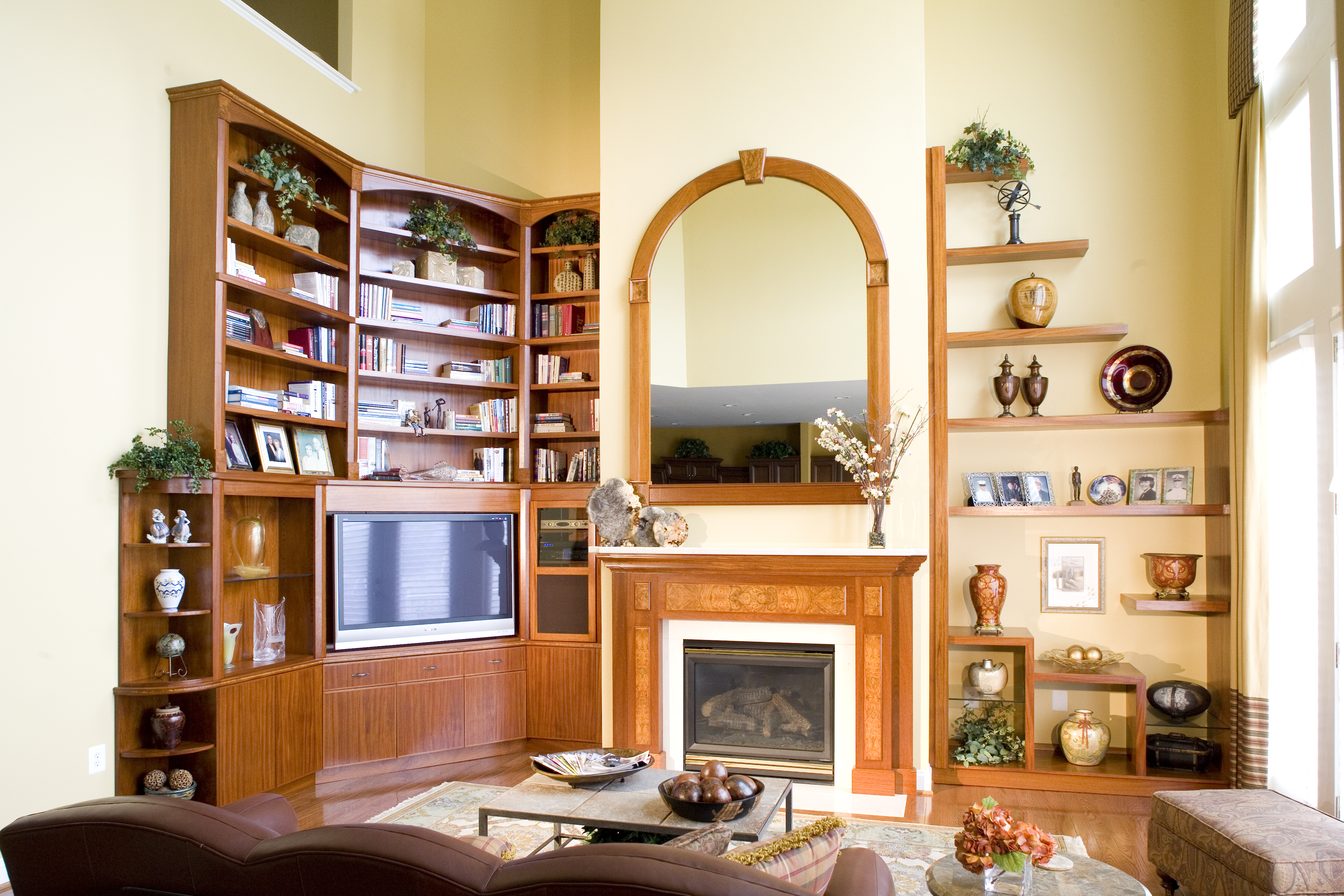Custom Mantle and Living Room