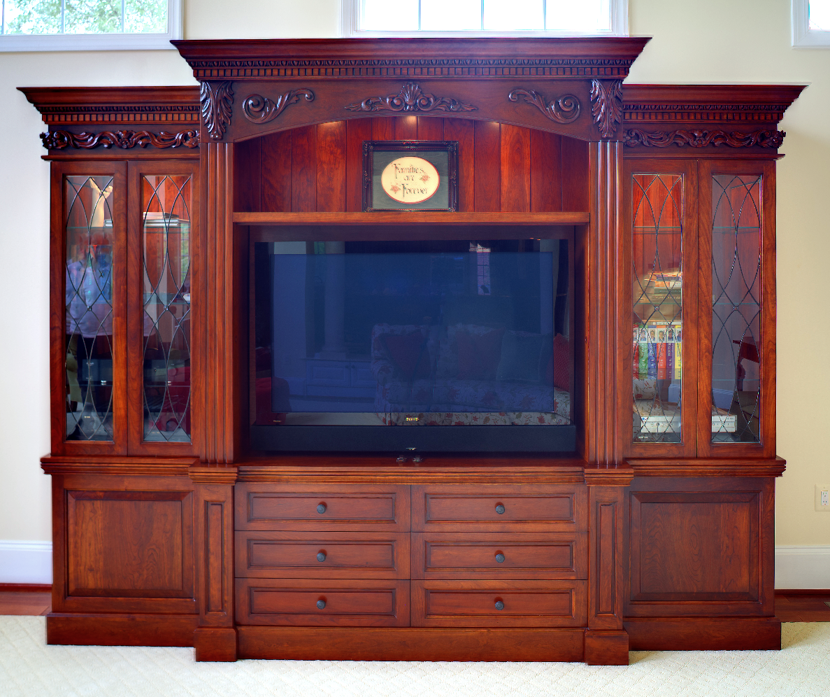 TV unit with display cabinets