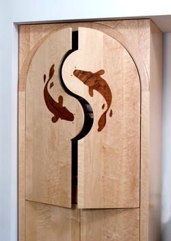 Custom Koi Pantry Doors
