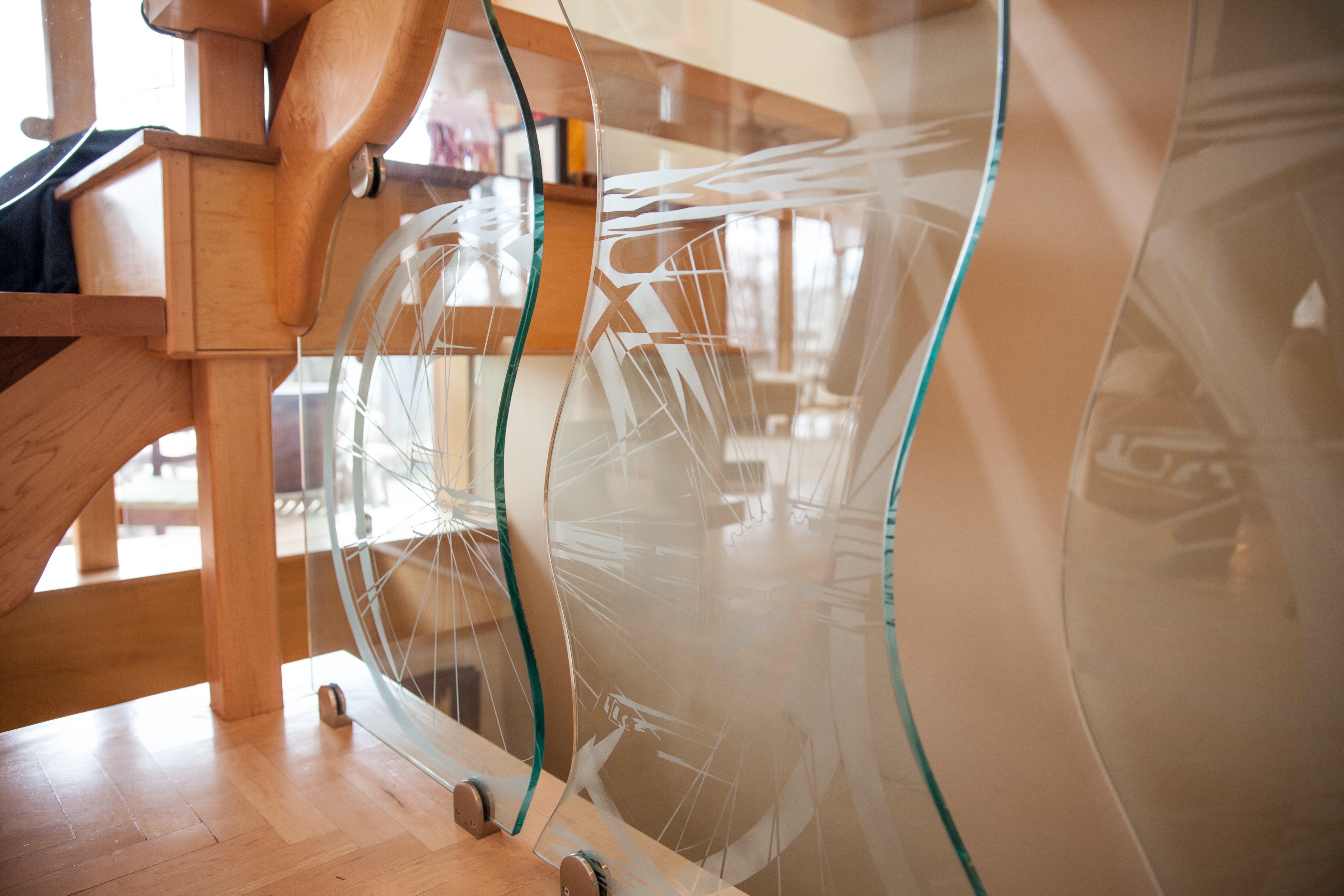 Staircase Etched Glass