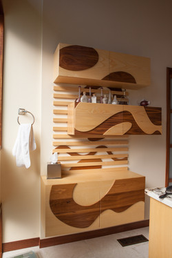 Custom Bathroom Storage