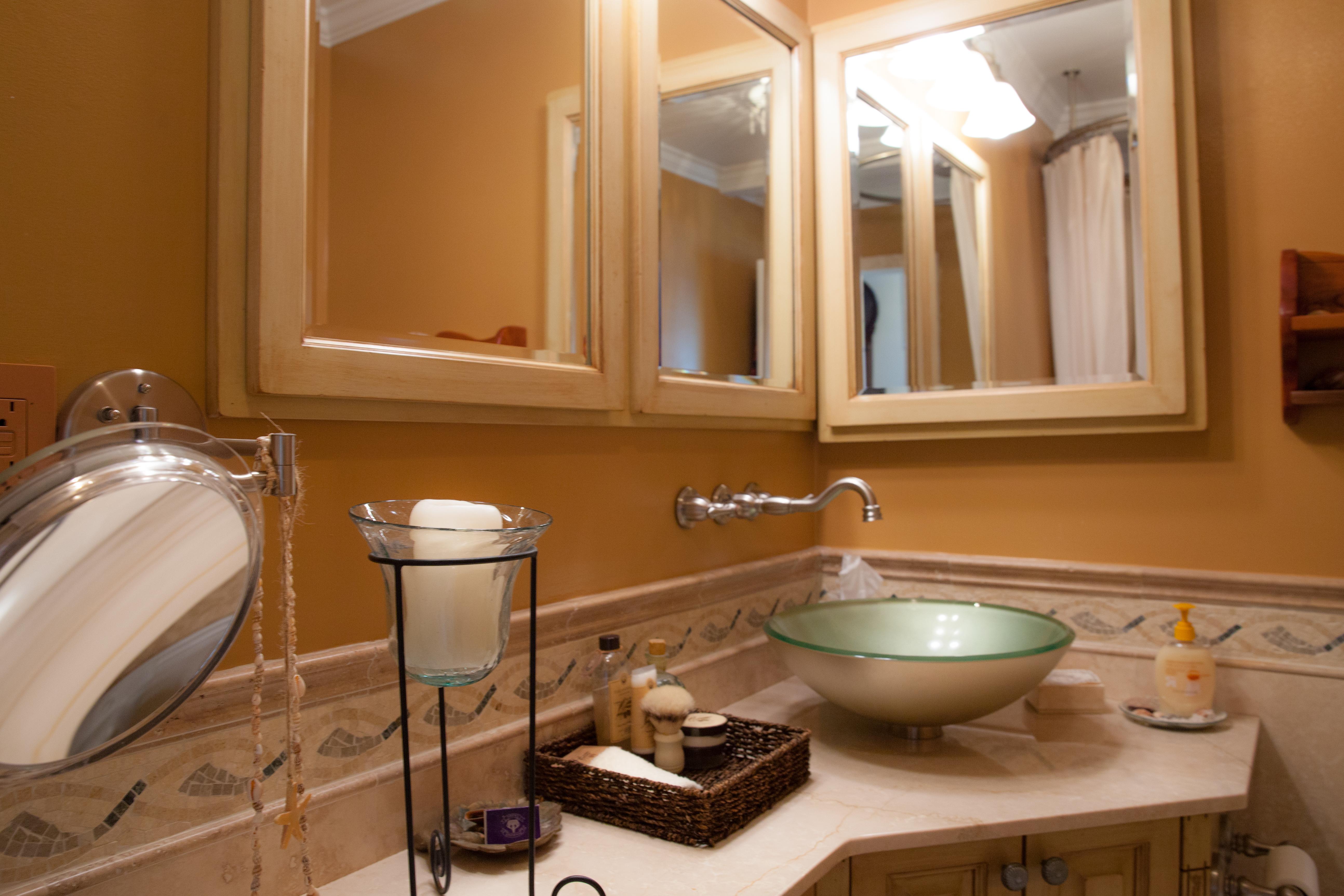 Complete Custom Tuscan Bathroom