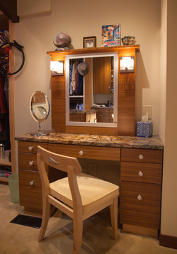 Closet Vanity and Chair