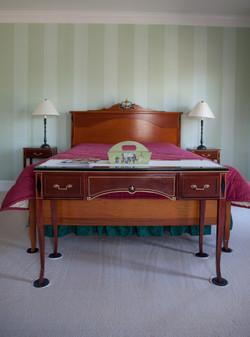 Bed built to match antique set